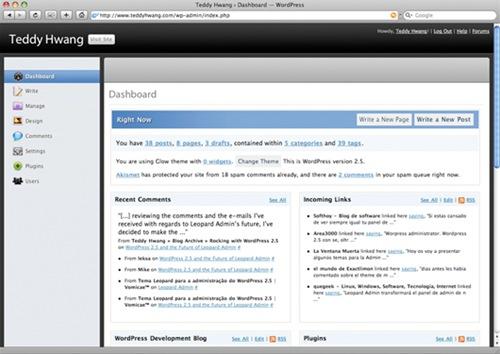 leopard-admin-wordpress