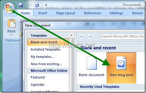 Post in your blog from microsoft word 2007 undercover blog - Free office word download for windows ...