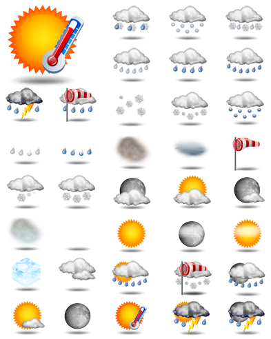 Weather conditions icons undercover blog for Widget clima samsung