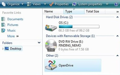 OpenDrive Online Disk