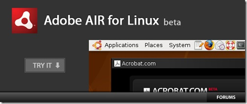 Adobe AIR for Linux Beta is out