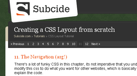 create a css layot from scratch