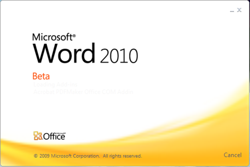 Download Microsoft Office Professional Plus 2010 Beta - Loading Word