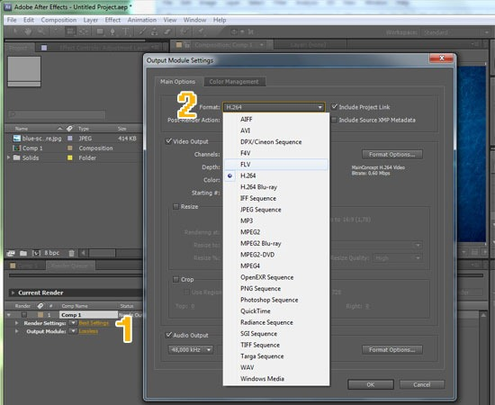 ... using the render queue in Adobe After Effects CS5 - Undercover Blog