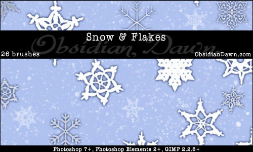 Snow___Snowflakes_Brushes_by_redheadstock