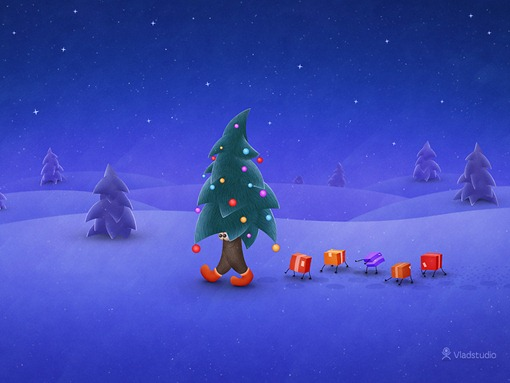 vladstudio traveling christmas tree