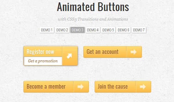 CSS3 Animated Buttons - Free Script Included