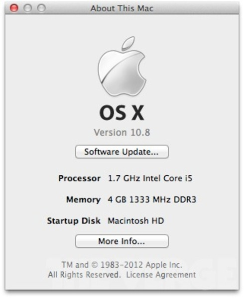Mountain Lion Mac osx Apple