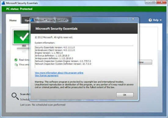 Microsoft Security Essentials-Genuine Windows