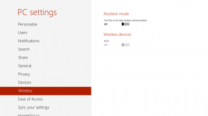 WiFi Capability on Windows 8
